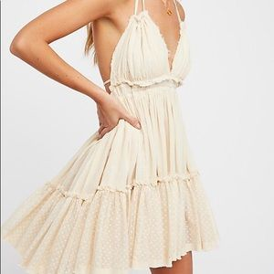 Free People 100 Degrees Mini Dress in IVRY